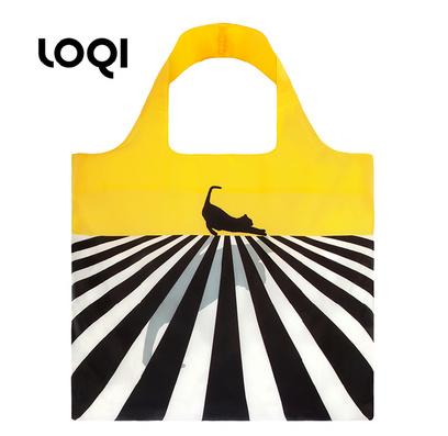 LOQI 春卷包│摩登系列新潮包 折疊包 購物袋 單肩斜跨大包