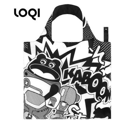 LOQI 春卷包│抽象藝術系列新潮包 折疊包 購物袋 單肩斜跨大包 定制