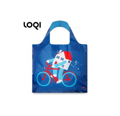 LOQI 春卷包│藝術系列新潮包 折疊包 購物袋 單肩斜跨大包定制