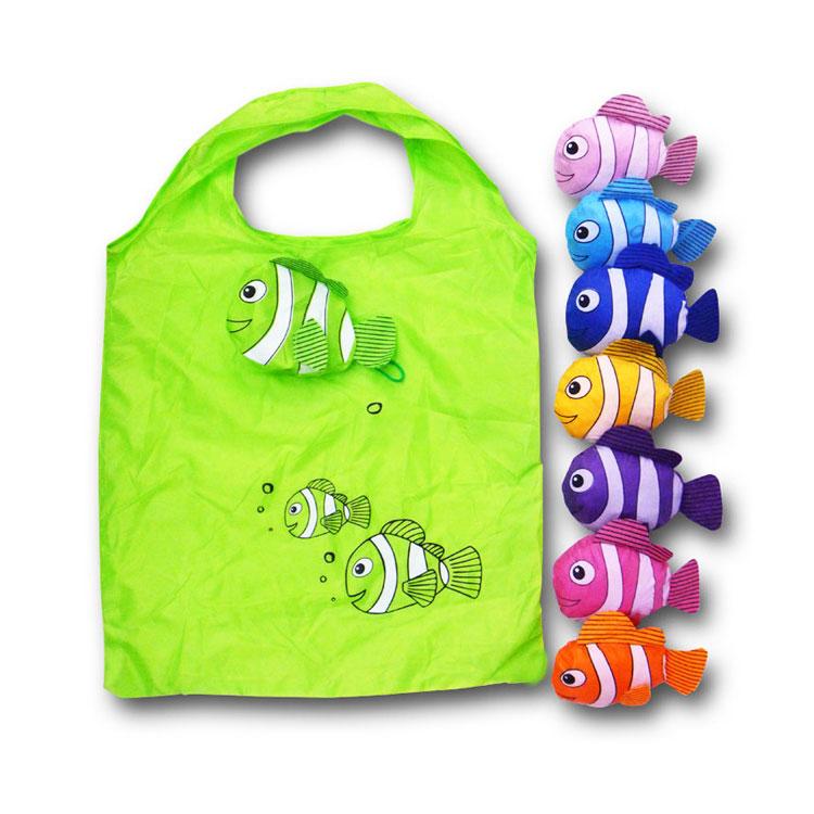 卡通折叠涤布折叠购物袋 卡通小丑鱼 可定做 牛津布 尼龙