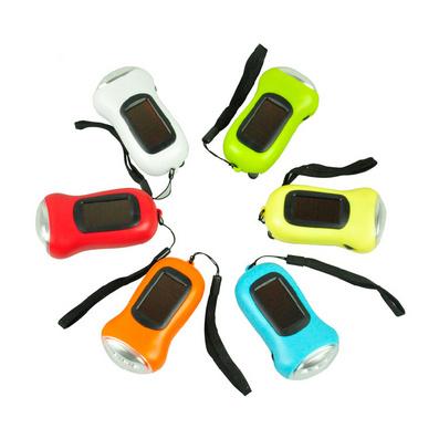 手搖發電手電筒 太陽能充電 迷你便攜式節能 強光手電筒