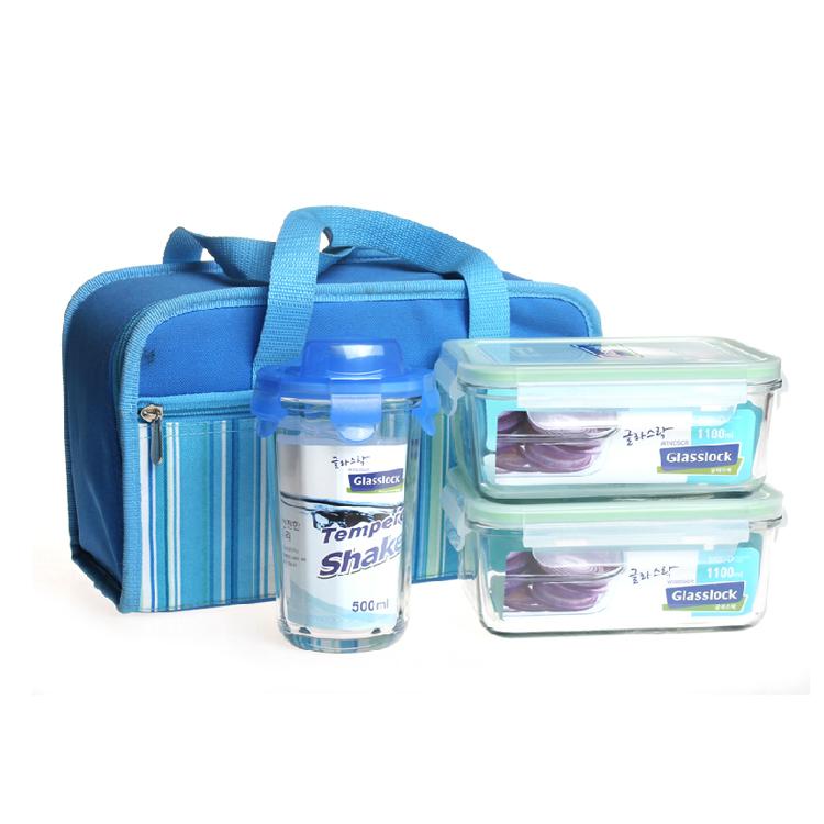 玻璃扣GLASSLOCK保鲜盒饭盒便当盒便携式套装