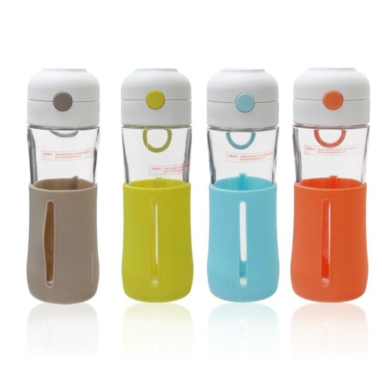 glasslock进口带盖玻璃杯具运动水杯子旅行茶杯定制
