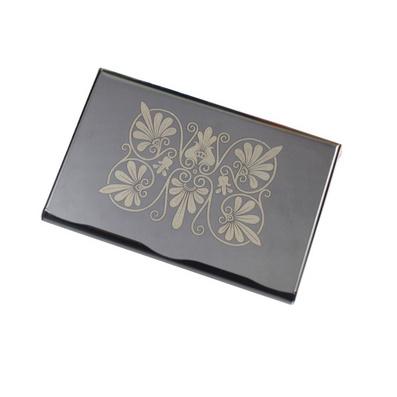 黑鈦名片夾 不銹鋼名片盒 男士女士商務名片夾