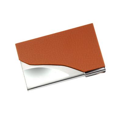 皮質不銹鋼薄名片夾男女士款商務時尚名片盒