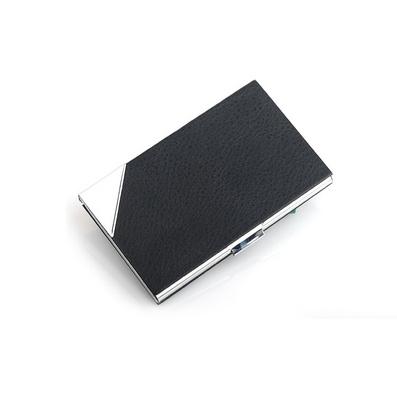 時尚商務新款男女名片盒 黑色高檔PU皮革包裹氣質名片夾