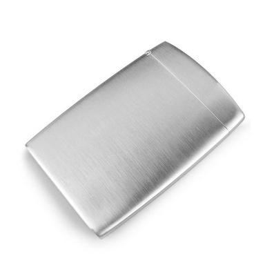 打火機式不銹鋼翻蓋名片夾 男士商務創意名片盒