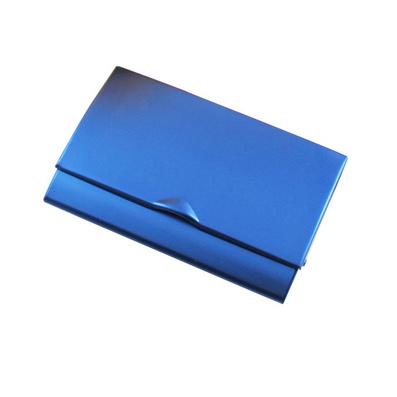 高品質彩色鋁質弧形翻蓋名片盒名片夾