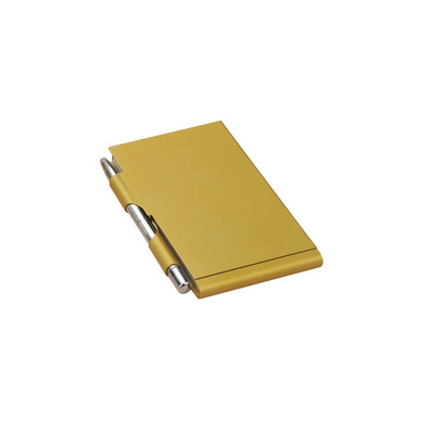 禮品鋁制便簽本 金屬便簽本 便簽盒 帶金屬筆