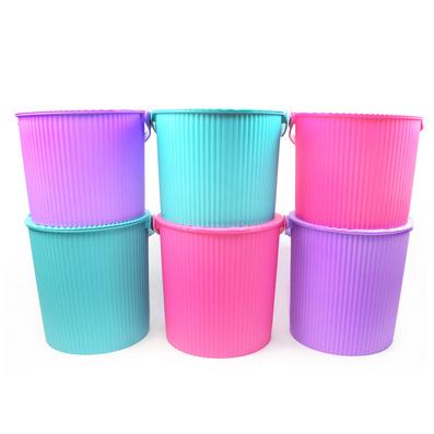 優質塑料帶蓋釣魚桶 休閑提桶 炫彩收納桶