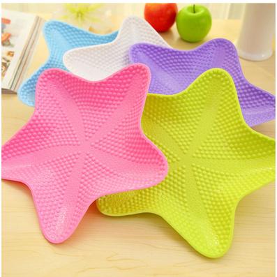 创意五角海星多用水果盘 时尚干果瓜果糖果零食果盘