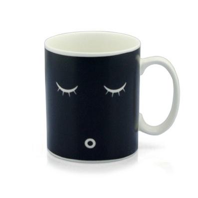早安咖啡杯 變色杯 創意馬克杯 感溫漸變色杯