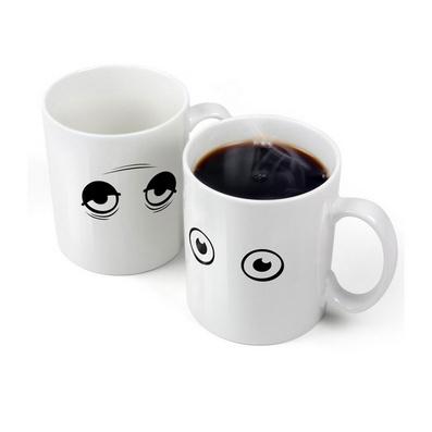 感溫醒目變色杯子 個性創意咖啡杯 變色馬克杯