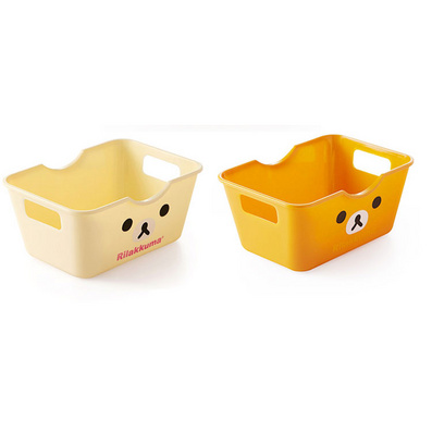 通印花储物盒 小熊收纳盒 长方形收纳盒 杂物盒