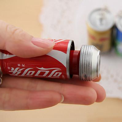 易拉罐伸缩圆珠笔 创意广告笔 伸缩饮料笔