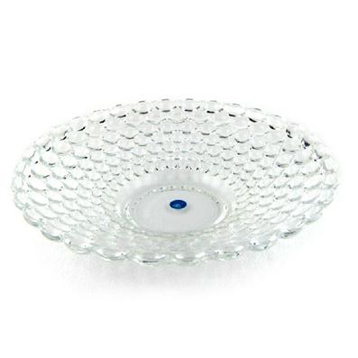 透明创意时尚珠点果盘 水晶玻璃果盘 沙拉冷饮盘