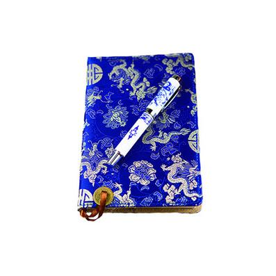 云錦筆和筆記本中國特色禮品送老外云錦筆記本陶瓷筆會議禮品