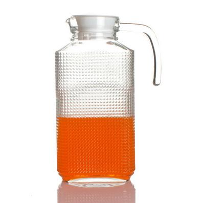 鉆石花紋雪柜樽 大容量玻璃冷水壺 玻璃壺 啤酒壺飲料壺果汁壺