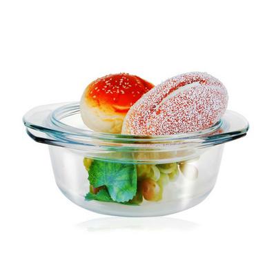 钢化玻璃煲 耐热水晶碗 微波炉餐具 带盖盘