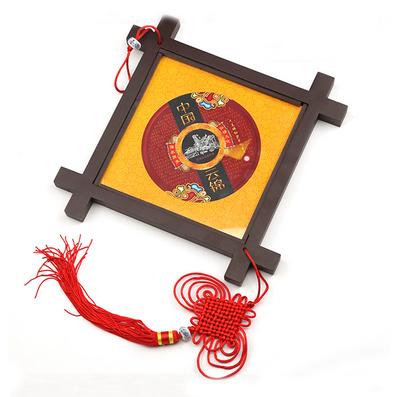 云锦井架框画 织金福 中国风特色工艺品定制