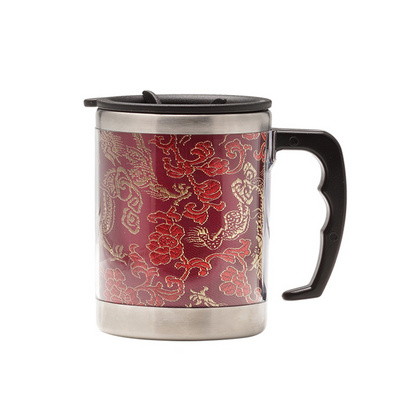 云錦辦公杯茶杯不銹鋼內膽杯禮品定制