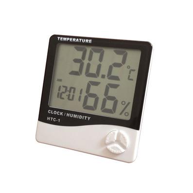 大屏?#27426;?#21151;能电子温湿度计 带闹钟功能 高精度 温度湿度计