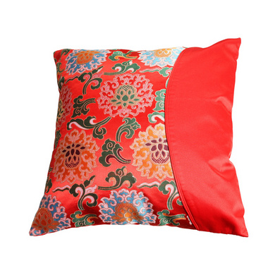 云锦抱枕套缠枝莲花靠枕中国古典礼品家居用品床上用品靠垫套定制