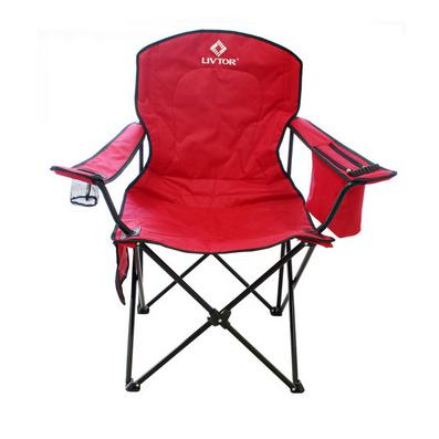 零度探索帶保溫袋大號折疊椅沙灘椅(紅色)定制