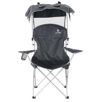 零度探索LIVTOR 便攜式折疊椅遮陽釣魚椅休閑椅子沙灘椅