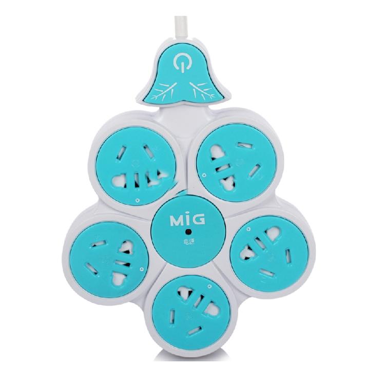 家居创意五瓣花插座儿童保护插座插板拖线板接线板
