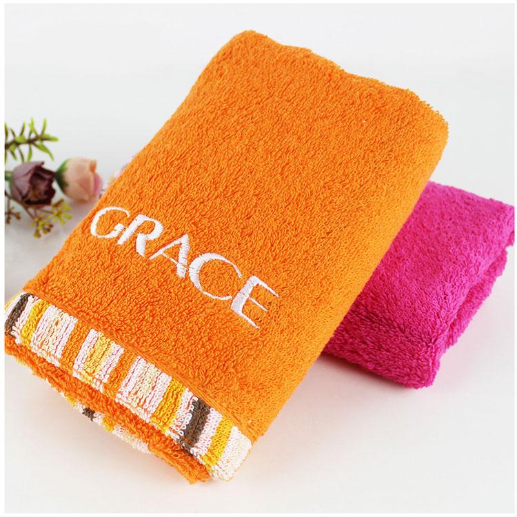 潔麗雅純棉毛巾 舒適強吸水 彩色毛起毛緞邊毛巾