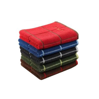 潔麗雅毛巾正品 純棉柔軟毛巾 格子繡花面巾