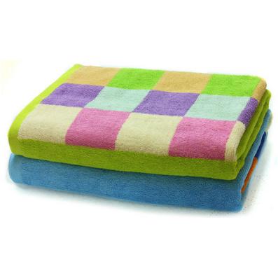洁丽雅 浴巾 纯棉强吸水舒适 拼色撞色