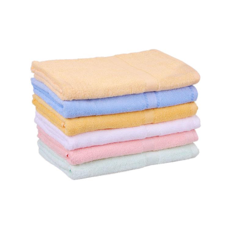 正品洁丽雅纯棉浴巾 柔软厚实 素色加大吸水浴巾