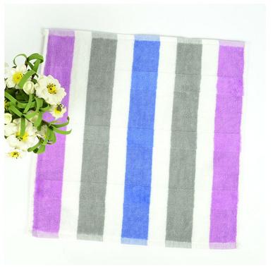 潔麗雅方巾 彩色條紋純棉柔軟舒適方巾
