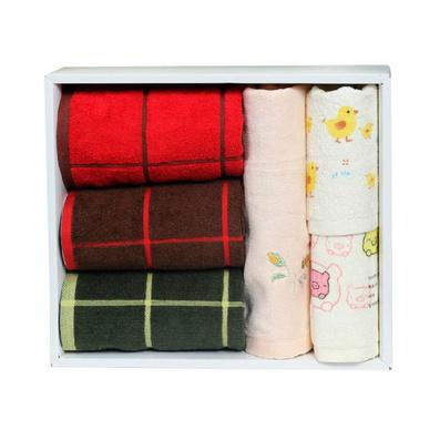 正品潔麗雅毛巾禮盒套裝 純棉毛巾6條禮盒
