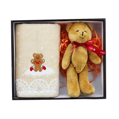 潔麗雅毛巾禮盒浪漫季節 面巾可愛小熊套裝 兒童節禮物