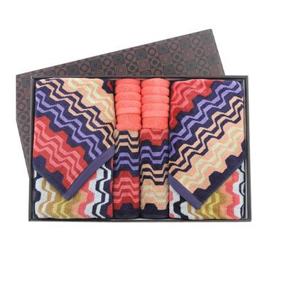 潔麗雅毛巾炫彩系列高檔禮盒 純棉毛巾100%棉盒裝