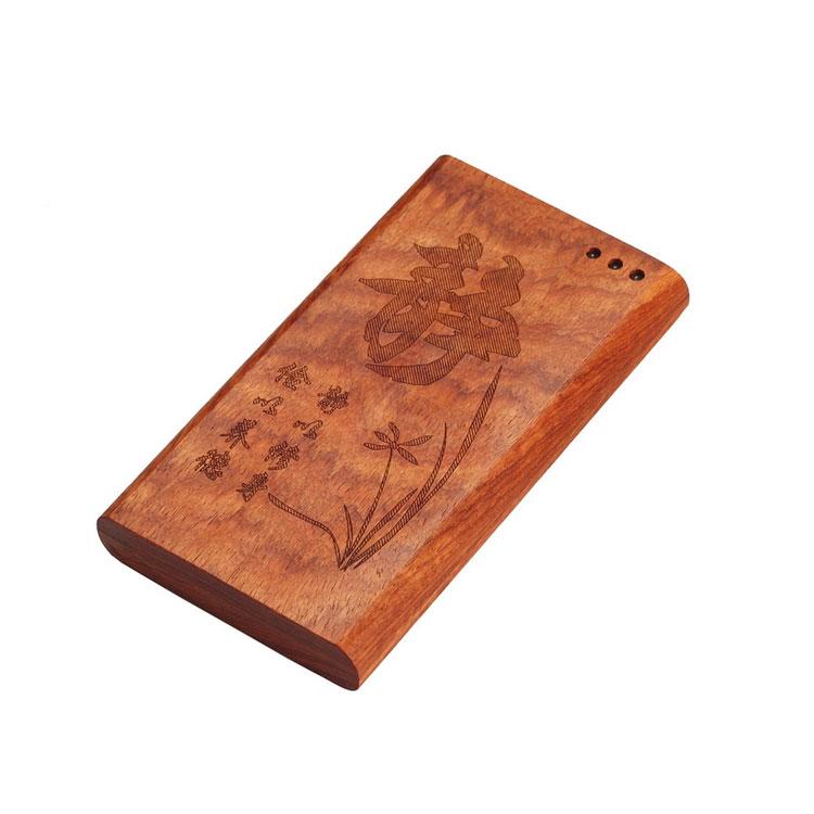 高档礼品 5200mah竹木移动电源 可订制LOGO及图案