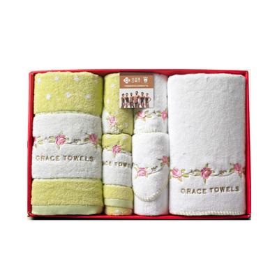 潔麗雅毛巾正品 純棉浴巾方巾毛巾禮盒套裝 純棉材質