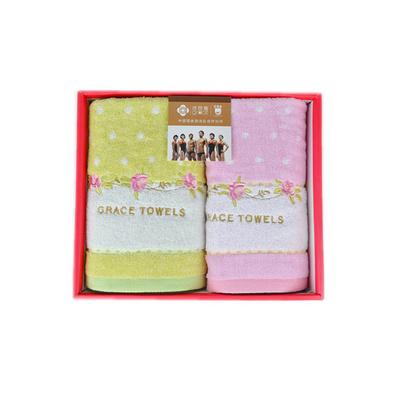 潔麗雅毛巾禮盒 毛巾兩件套 波爾卡系列