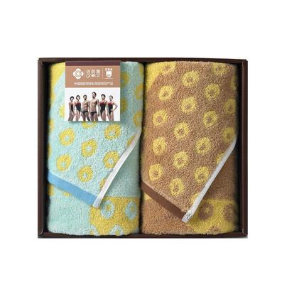 洁丽雅毛巾礼盒锐班系列  纯棉毛巾/面巾2条礼盒