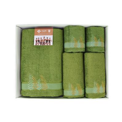 潔麗雅 正品清影系列 竹纖維毛巾五件套禮盒裝 浴巾毛巾方巾 商務禮品