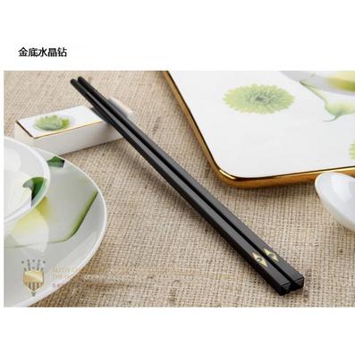 鑲鉆筷子 合金筷 批發 酒店家用 禮品 禮盒 高檔 餐具