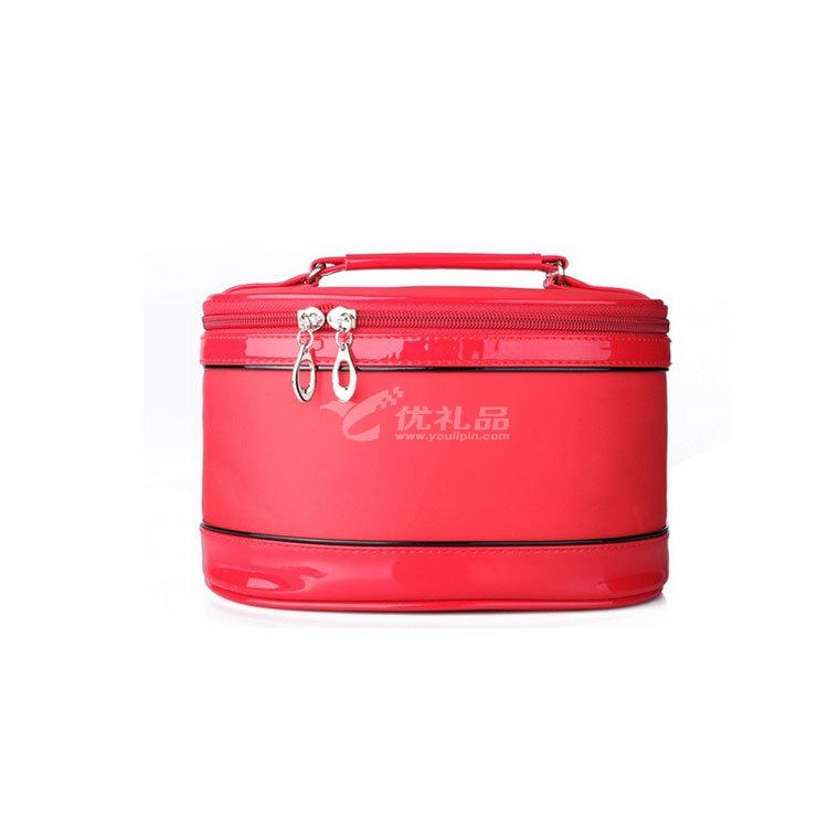 韓版新款大容量三件套圓桶化妝包