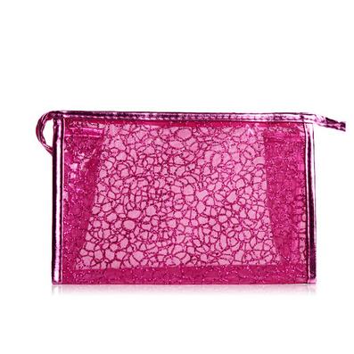 韓版絲網半透明女士化妝包 化妝袋 洗漱包 收納包