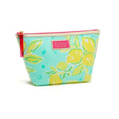 清新春天嫩綠花朵防水化妝包 收納包手拿化妝包 洗漱收納包