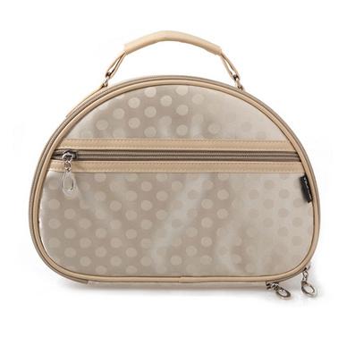 韓版大圓點絲光面專業化妝包 半月形化妝袋 旅行收納包 新款