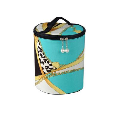 欧美大牌范复古专业化妆包2件套 筒式化妆包 收纳包