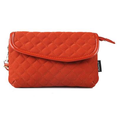 时尚新款女包 翻盖式菱格化妆包 多用途手包